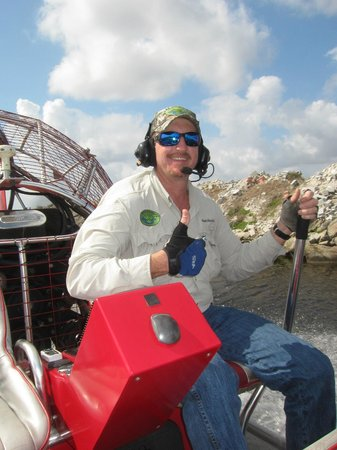 Spirit of the Swamp Airboat Tours:                   Captain Harold (well done !)