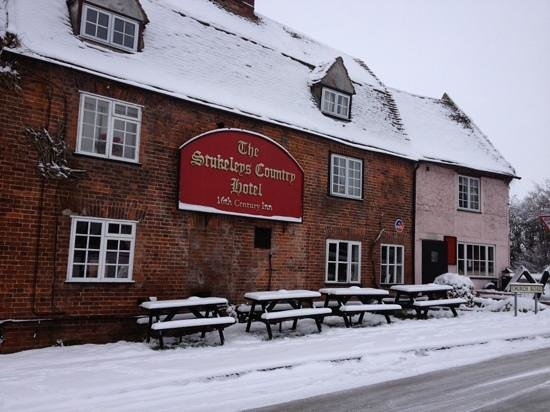 The Stukeleys Country Hotel:                   lovely old building, staff very friendly