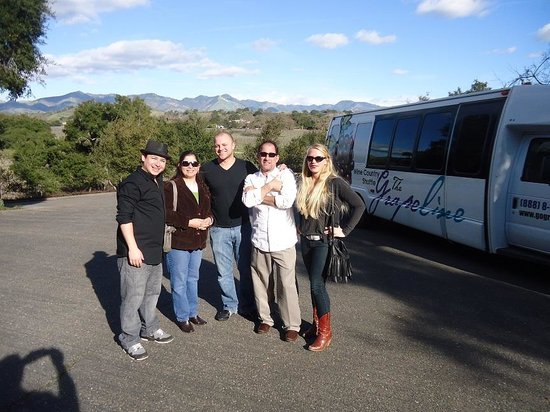 Grapeline Wine Tours Santa Barbara :                   Our group, on a gorgeous day : )