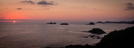 Las Brisas Hotel Collection Ixtapa:                   Sunset from the top floor of the hotel
