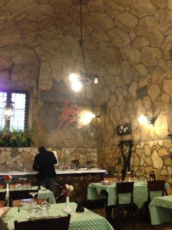 Osteria La Grotta:                   Sala da pranzo