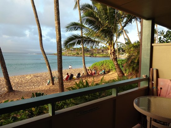 The Napili Bay:                   The view from the patio
