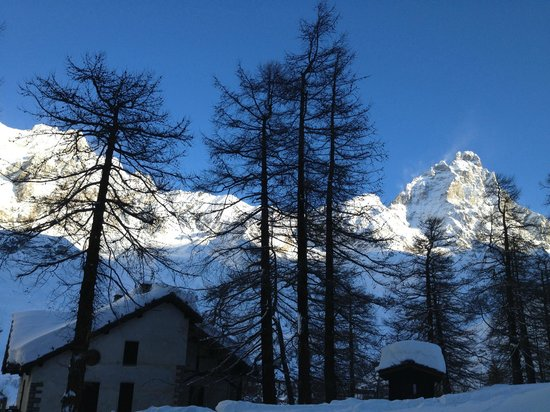 Saint Hubertus Resort:                   View of the Matterhorn from our room.