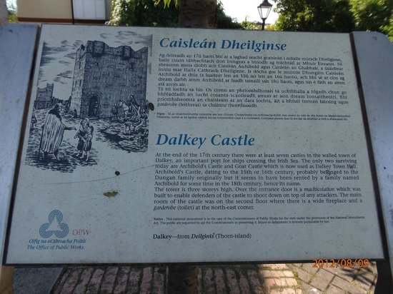 Dalkey Castle and Heritage Centre: Castle history