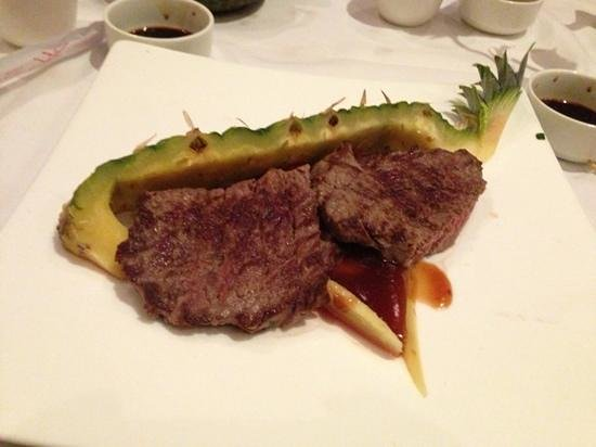 Elements Asia:                   pineapple steak