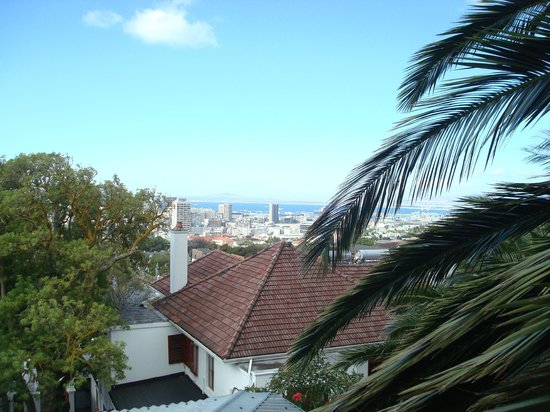 Lezard Bleu:                   Blick vom Balkon des Baumhauses