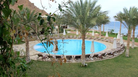 Dahab Paradise:                   View of the pool from my balcony