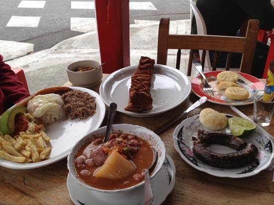 Envigado, Colombia:                   Chicharron with bandeja
