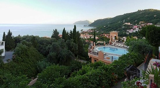 Agios Gordios, Greece:                                     view from the balcony..
