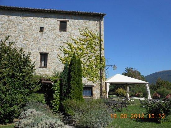 Castello di Petrata:                   in alto la nostra camera