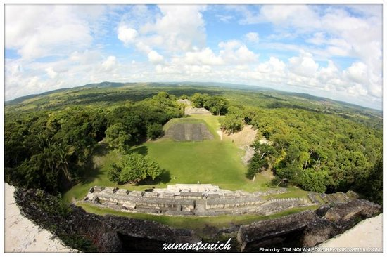 Xunantunich:                                     view from the top