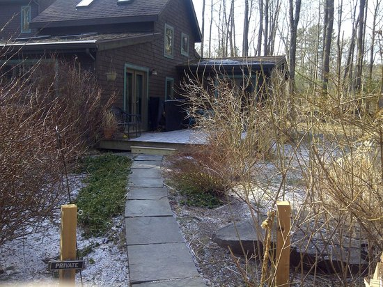 Woodstock Holistic B&B:                                     The private enterance