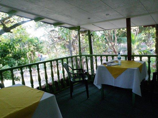 Montezuma Pacific Hotel:                   Community veranda