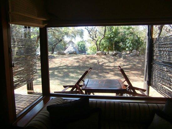 Bakubung Bush Lodge:                   Uitzicht vanuit kamer 502