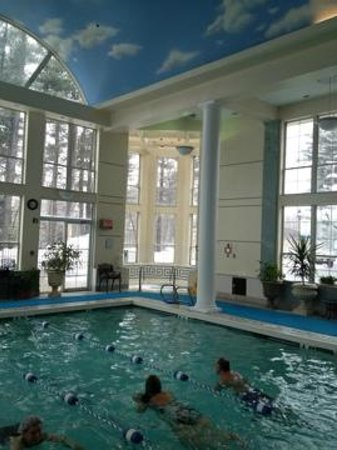 Senator Inn & Spa:                   looking at hot tub