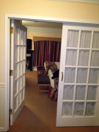 Senator Inn & Spa:                   french doors in room