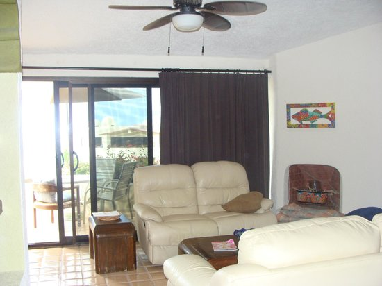 Terrasol Beach Resorts:                   Main living area looking out