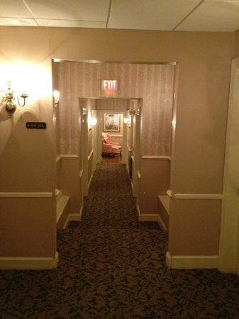 The Vendue Charleston's Art Hotel:                   Hallway leading to our room
