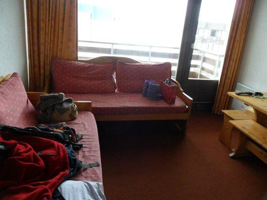 Maeva Residence Le Schuss :                   Séjout avec lits-banquette
