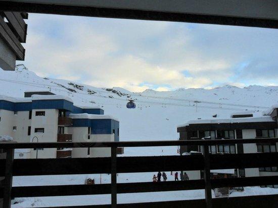 Residenz Maeva Le Schuss:                   Vue depuis l'appartement (et balcon)