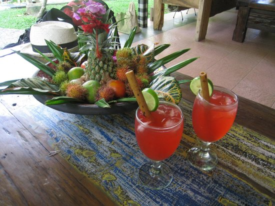 Swasti Eco Cottages:                   Welcome drinks!  Delicious.