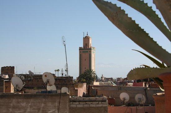 Riad du Ciel:                   Panorama dal terrazzo privato della camera