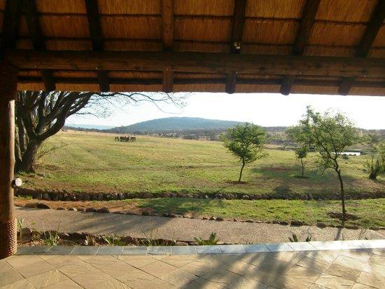 Kololo Game Reserve:                   Uitzicht vanuit de receptie