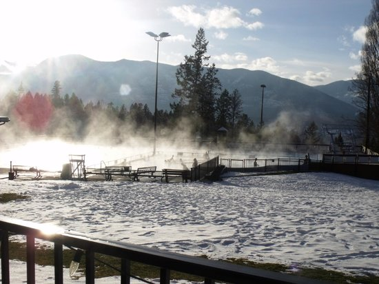 Fairmont Hot Springs Resort: view of public hot pools  on the Lodge grounds