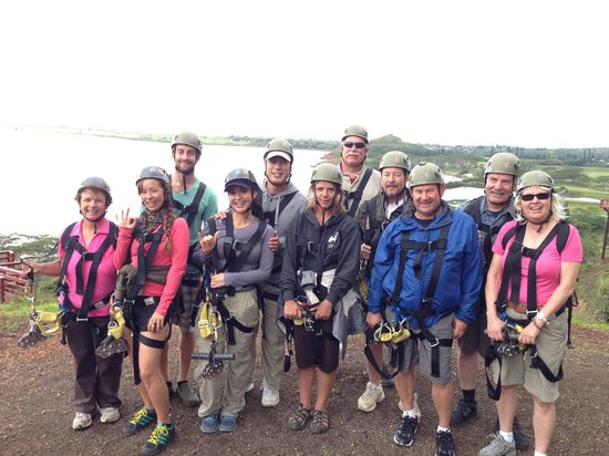 Koloa Zipline:                   Our Group Photo!