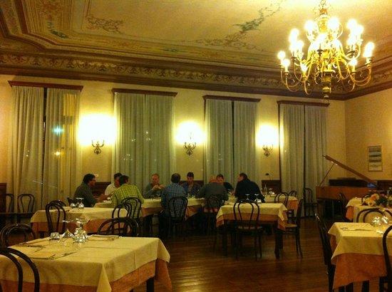 Hotel Monterosa:                   Very nice old ballroom style dinner room