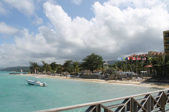 Jewel Dunn's River Beach Resort & Spa, Ocho Rios,Curio Collection by Hilton:                   View of hotel from front of pier