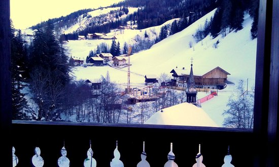Gasthof Al Bagn:                   vista da camera sulla balconata