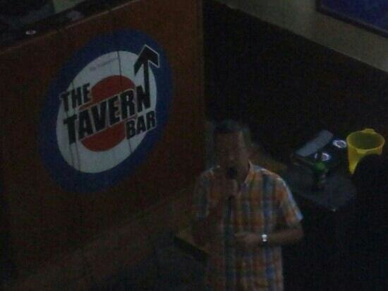 The Tavern Bar: Me on karaoke!
