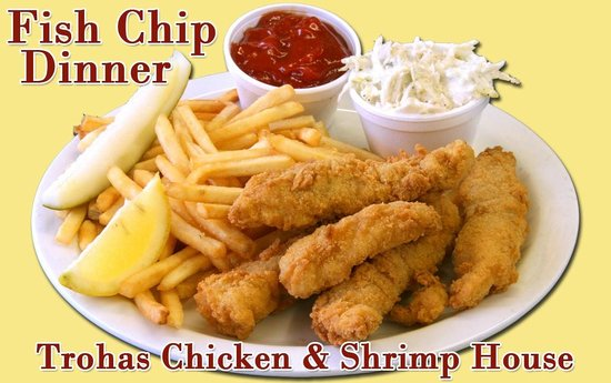 Troha's Chicken and Shrimp House: Fish Chip Dinner