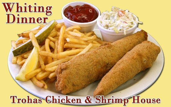 Troha's Chicken and Shrimp House: Whiting Dinner