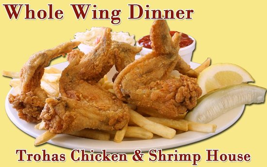 Troha's Chicken and Shrimp House: Whole Wing Dinner