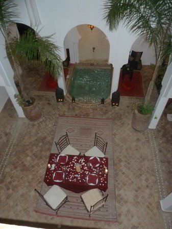 Riad Faiza GuestHouse-Hammam/Spa :                   Table laid for dinner.