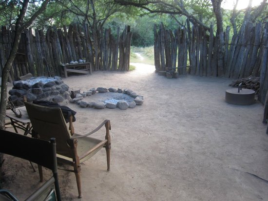 Quatermains 1920s Safari Camp:                   relax with the other guests at the fire pit...