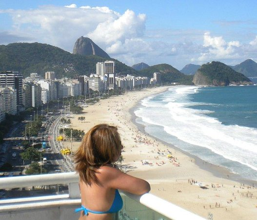 Pestana Rio Atlantica Hotel:                   Vista  desde la picina ubocada en el ultimo piso