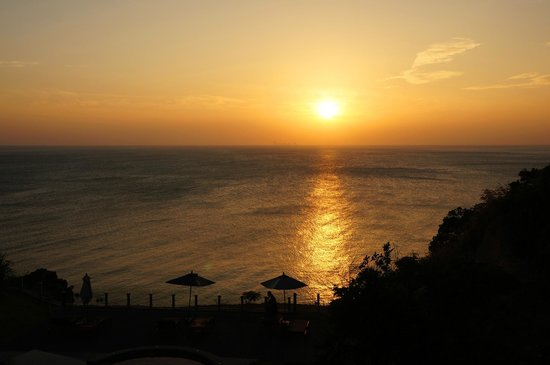 The Houben Hotel:                                     Sunset from the room