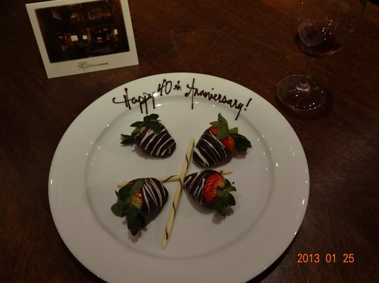 Willows Lodge:                   Anniversary gift from The Willows Hotel