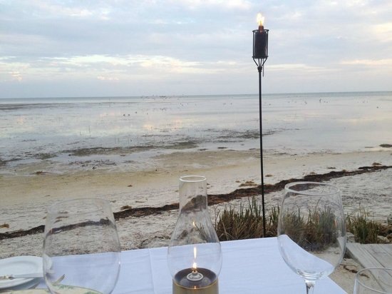 Little Palm Island Resort & Spa, A Noble House Resort:                   View from our table on the beach
