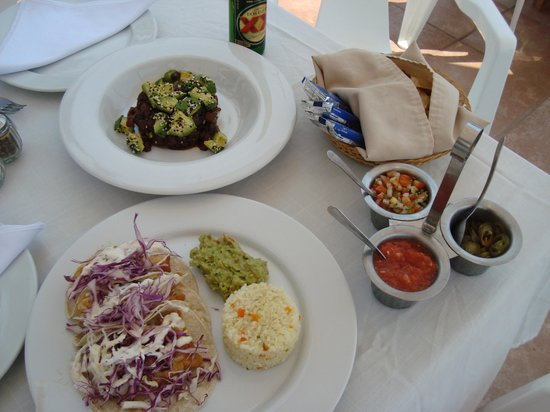 Oasis Ocean Club:                   Best fish tacos