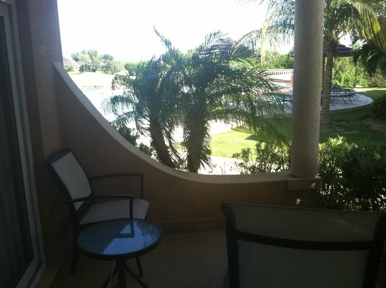 Divi Village Golf and Beach Resort:                                     standing on one of our patios