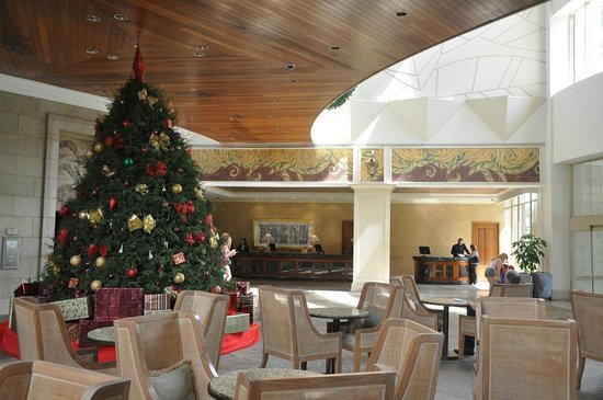 Real InterContinental Costa Rica at Multiplaza Mall: The Lobby on Christmas Day!