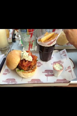 Radio Burger:                   my friends burger (with blue cheese)