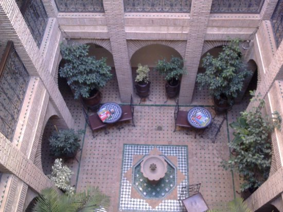 Riad Hotel Assia:                   Patio interior
