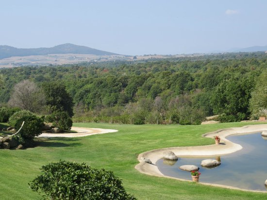 Agriturismo Cerrosughero:                   Breath-taking views each morning from our room if a small pond with mountains