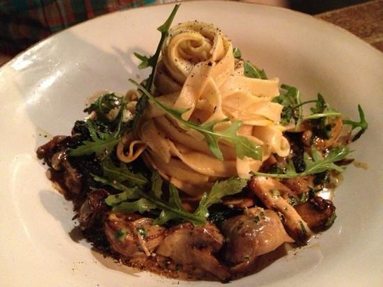 The Ebrington Arms Restaurant:                                     light and tasty fungi pasta