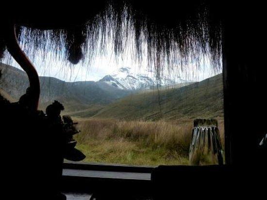Estrella del Chimborazo:                   El Volcán desde la habitación